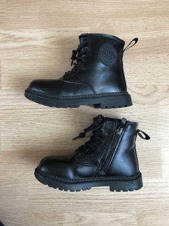 Кожаные зимние ботинки 28р.