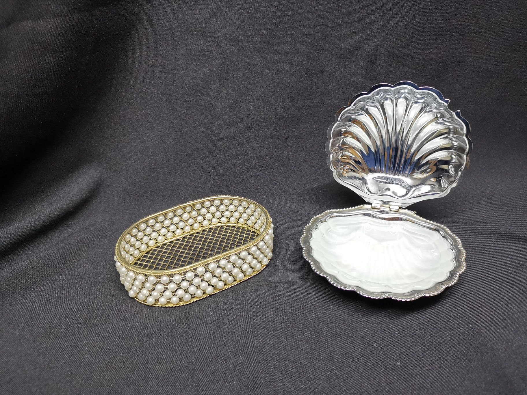 Conjunto de peças decorativas guarda jóias