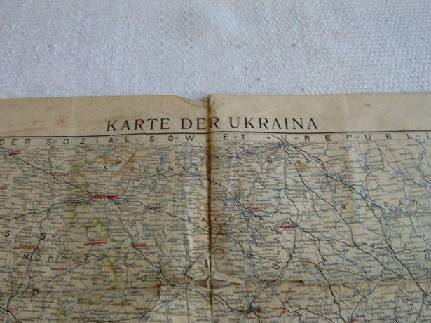 Mapa Ukrainy 1941