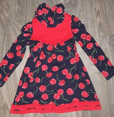 Платье с вишенками детское