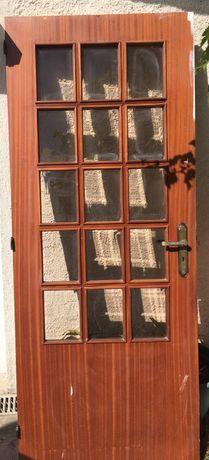 Porta madeira com vidro