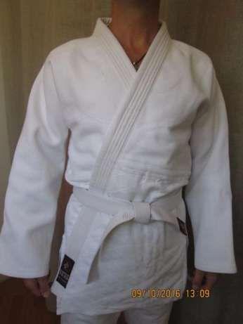 кимоно для дзюдо джиу джитсу айкидо белое синее кимано Matsa Wolf