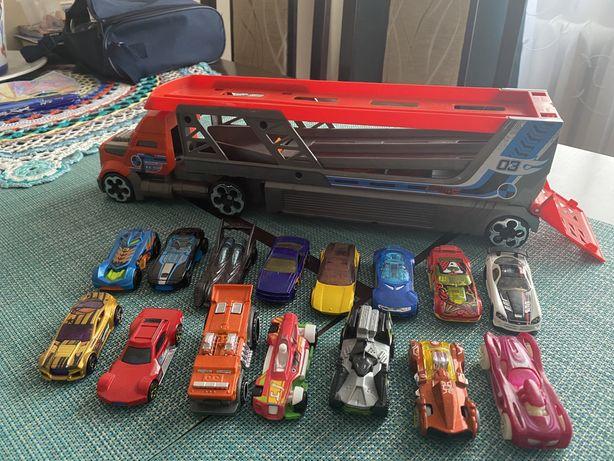 Hot wheels - samochody, winda, tory