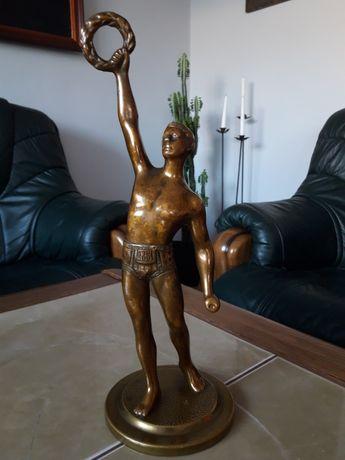 Olimpijczyk brąz/ mosiądz 32 cm.