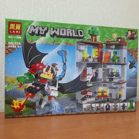 Лего Майнкрафт Конструктор Нападение 5-главого дракона Lari 11268
