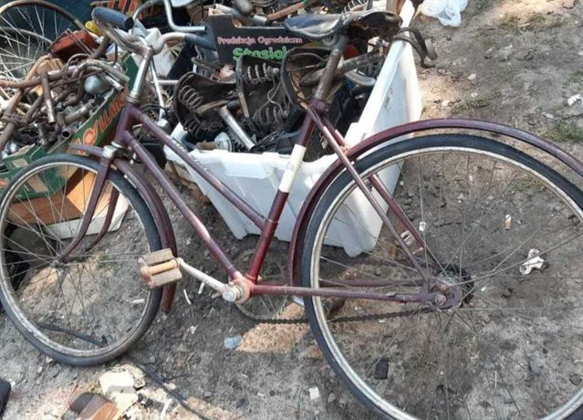 Stary rower szarotka na sprzedaż