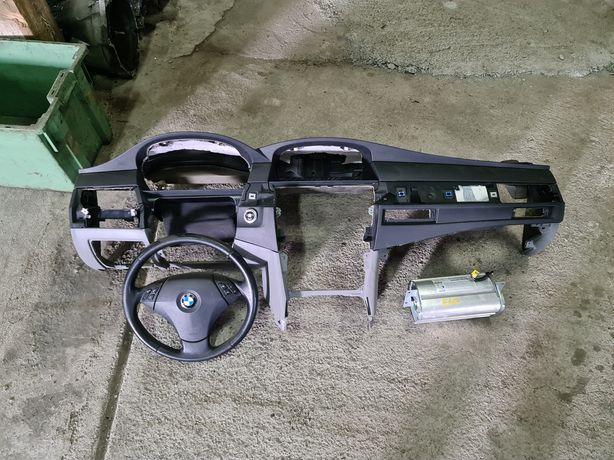 BMW E60 E61 deska rozdzielcza napinacze airbag Europa KOMPLET