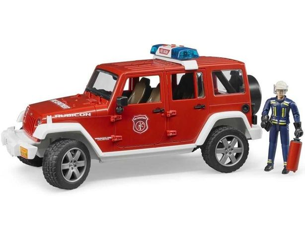 BRUDER 02528 Jeep Wrangler z figurką strażaka