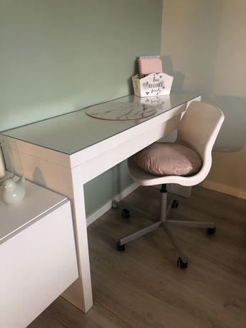 Biurko / Toaletka Malm Ikea + Krzesło Obrotowe
