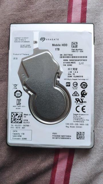 Жёсткий диск Seagate 1TB 2.5
