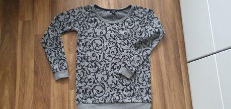 Szara wzorzysta bluza