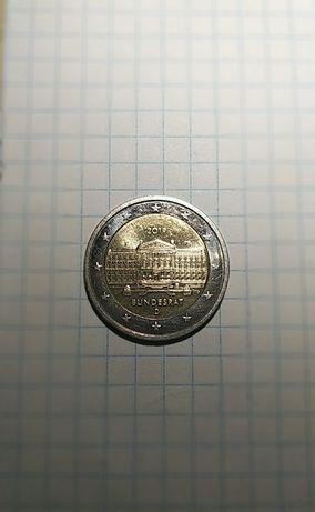"""Германия 2 евро 2019 """" 70 лет Бундесрату D."""