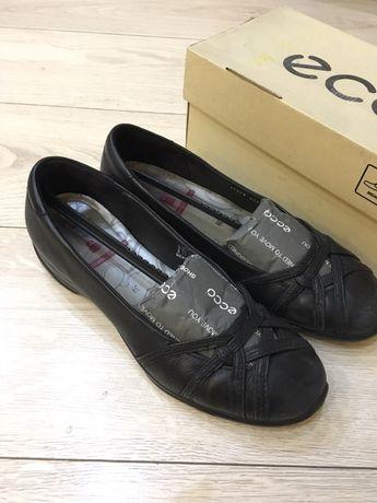 Туфли лодочки Ecco кожа чёрные