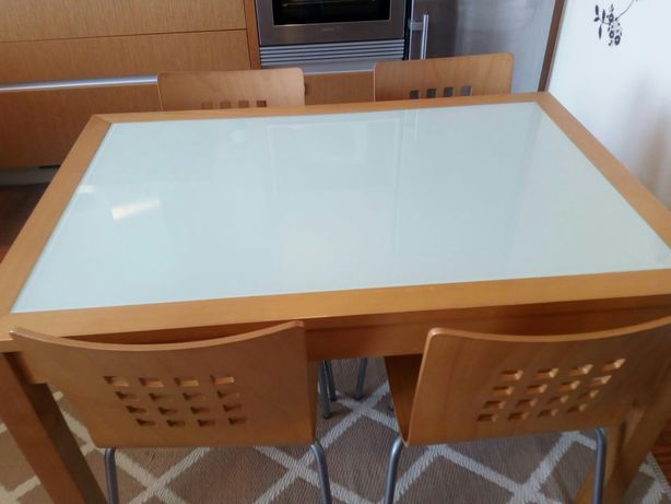 Mesa cozinha madeira extensível
