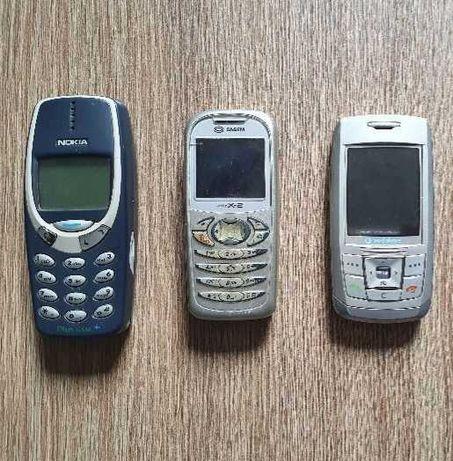 Telefony Nokia 3310, Sagem My-X2, Samsung Vodafone