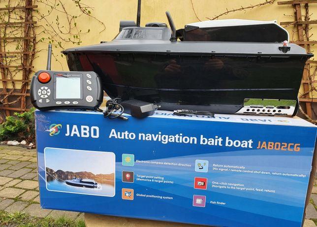łódka zanętowa Jabo 2 cg gps auto pilot echosonda