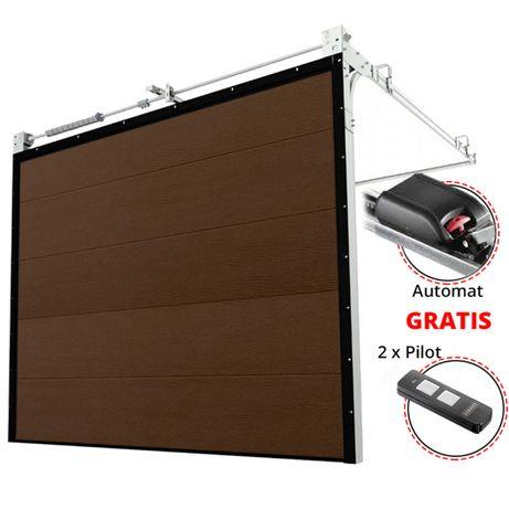 BRAMA bramy SEGMENTOWA Segmentowe garażowa + AUTOMAT - Szybki termin