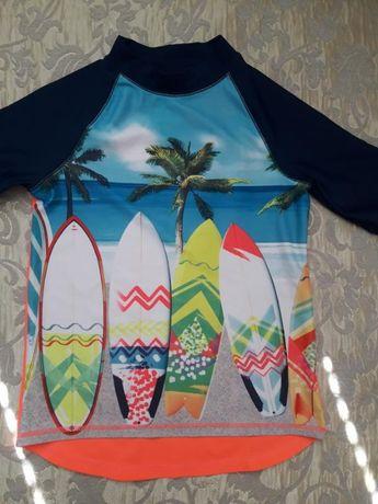 Солнцезащитная гидрокофта кофта для пляжа h&m на 6-8 лет.