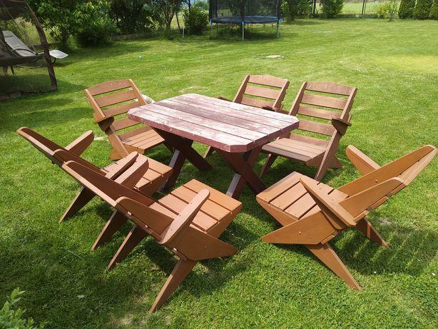 Drewniane meble ogrodowe - używane