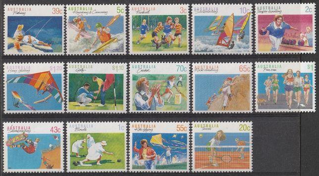 znaczki Australia - 1990 - sport - czyste **