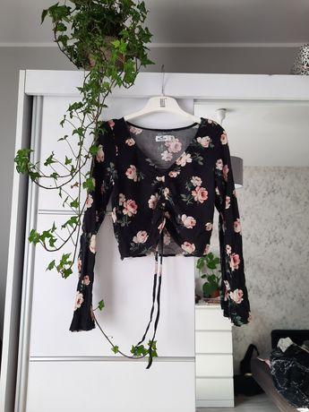 4 bluzki vinted w kwiaty body panterka