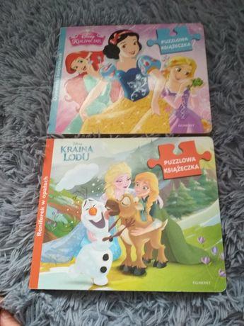 Zestaw książeczek puzzlowych Kaina Lodu i Księżniczki