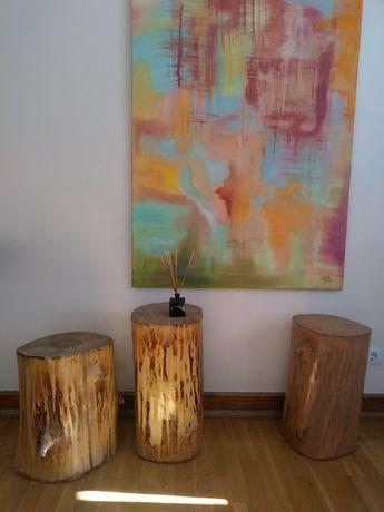 Troncos de madeira. Banco/mesa de madeira natural. SÓ 1 disponível!