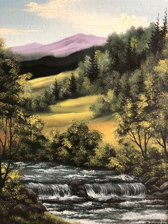 Картина маслом « Летний пейзаж»