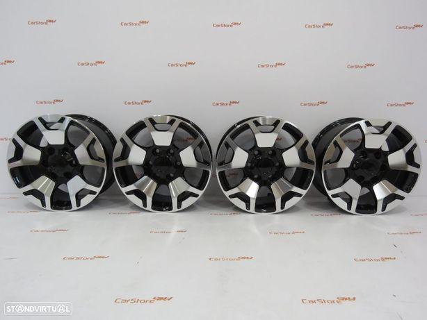 Jantes Look Toyota Hilux 17 x 7.5 et 25 6x139.7 Pretas + Polido