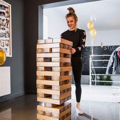 Jenga xxl gigantyczna wieża z kartonu - gra towarzyska na prezent