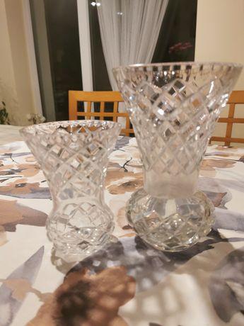 Dwa kryształowe wazony