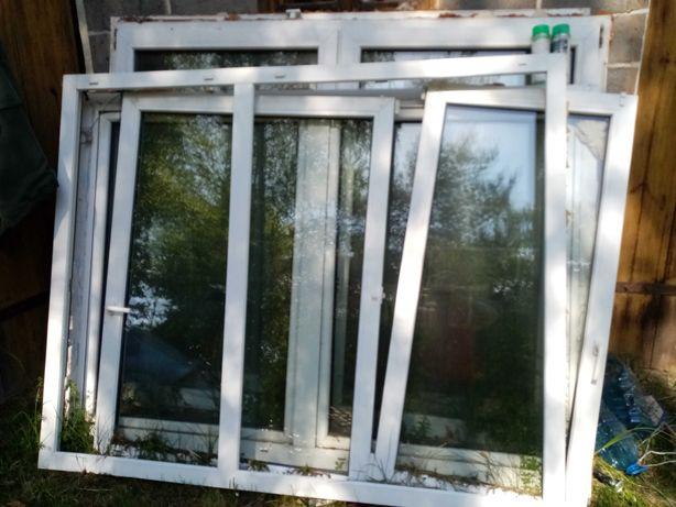 Okna z demontażu, okna PCV używane, budowa szklarni, garaż, wiata