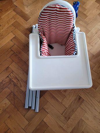 Ikea Antilop krzesełko do karmienia +taca +wkład (poduszka, poszewka)