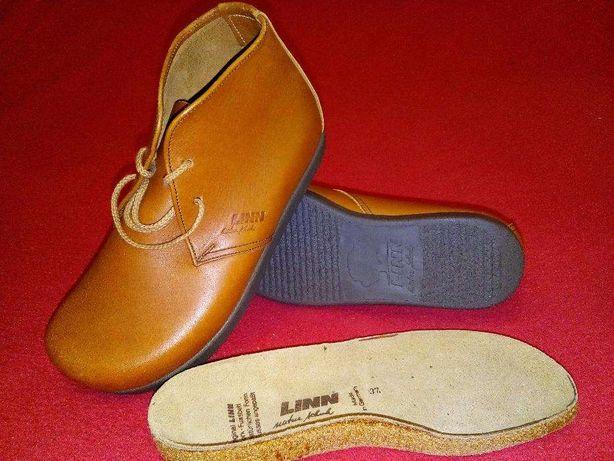 Ботинки, кожа, ортопедическая обувь, Германия бренд LINN р.38,24.7см..