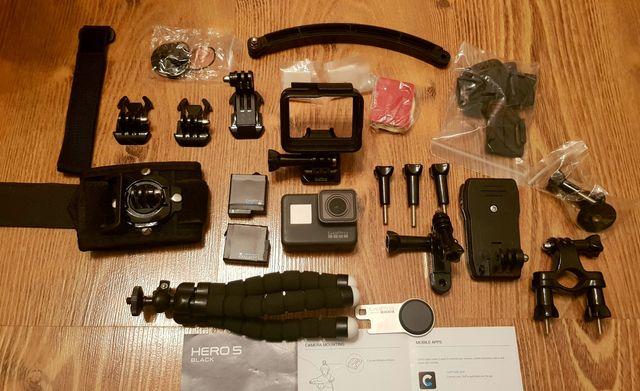 GoPro Hero 5 Black 2 baterie+zestaw