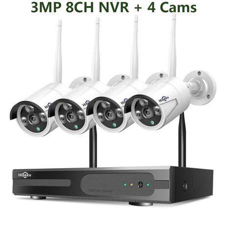 [NOVO] Sistema Vídeo Vigilância Wi-Fi [4 / 8 Câmeras 1080P 3 MP] CCTV