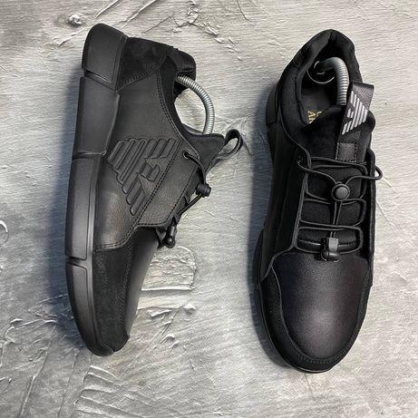 Мужские кожаные кроссовки Giorgio Armani Киев гарантия 40 41 42 43 44