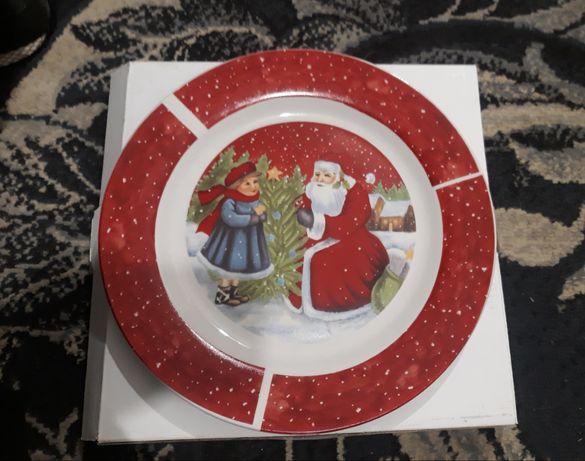 Talerz ozdobny Święty Mikołaj