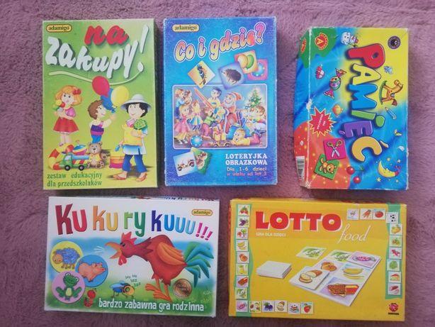 Zestaw gier edukacyjnych i rozrywkowych