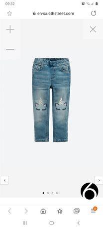 Jeansy 92 dżinsy jednorożec SMYK