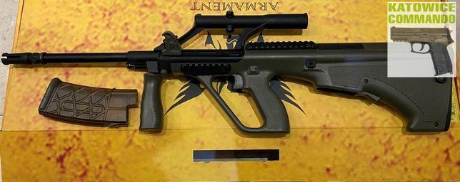 Replika karabinek Army Armament R902 AUG z lunetą 3X oliv