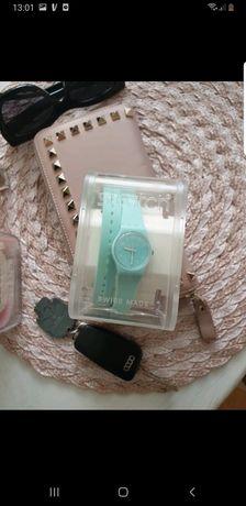 Nowy zegarek miętowy swatch