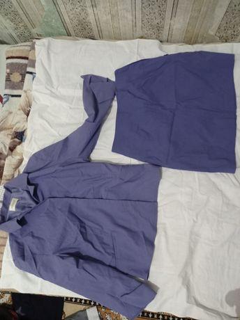 Костюм двойка фиолетовый