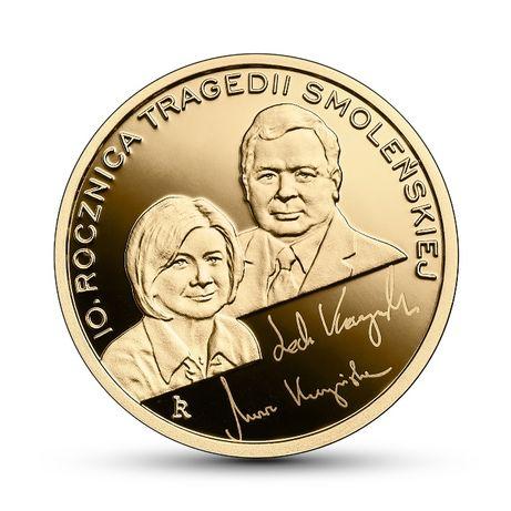 100 zł 10 rocznica Tragedii Smoleńskiej 2020 Moneta Złota F.VAT 3CITY