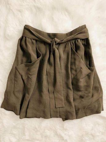 Spódnica khaki Zara M 38 lekka zwiewna