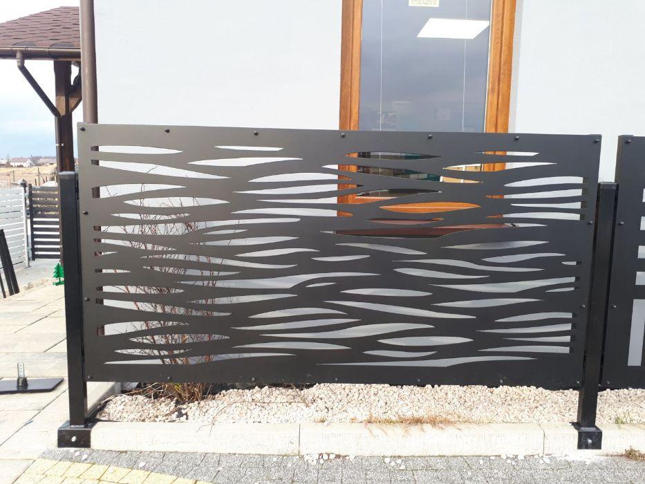 przęsło ogrodzenie wypalane laserem Modern brama furtka EuroMet Kraków - image 1