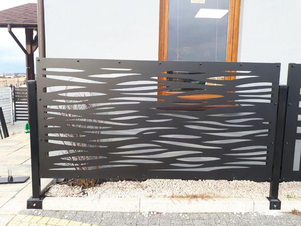 przęsło ogrodzenie wypalane laserem Modern brama furtka EuroMet