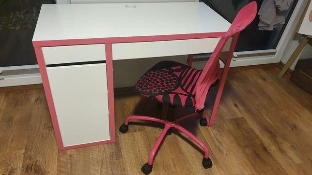Biurko i krzesło obrotowe dla dziewczynki, szkoła