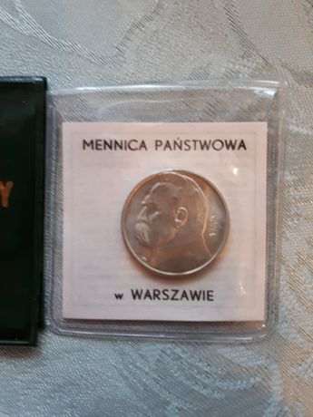 2 Złote Piłsudski Srebro 1936 Kopia NBP Mennicza