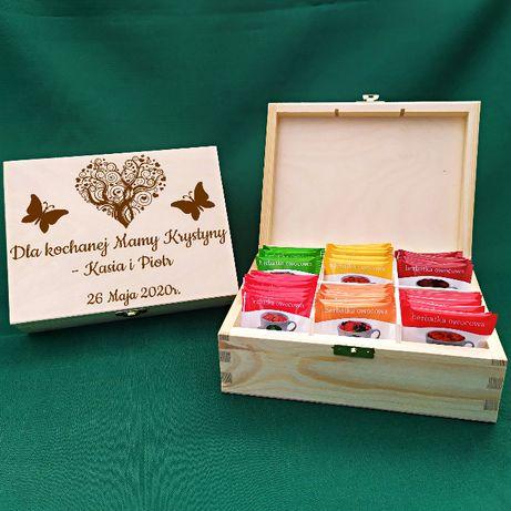 Herbaciarka dla Mamy na prezent Dzień Matki herbate imię życzeniami